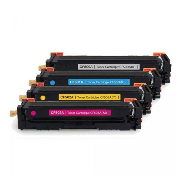 Kit Toner Compatível HP 202A CF500A CF501A CF502A CF503A  - INK House