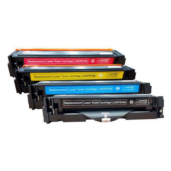 Kit Toner Compatível HP 204A CF510A CF511A CF512A CF513A M154 M180 M181