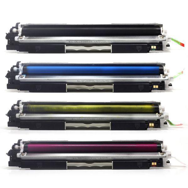 Kit Toner Compatível HP 130A CF350A CF351A CF352A CF353A CP1020 CP1025 M175 M176 M177 M275