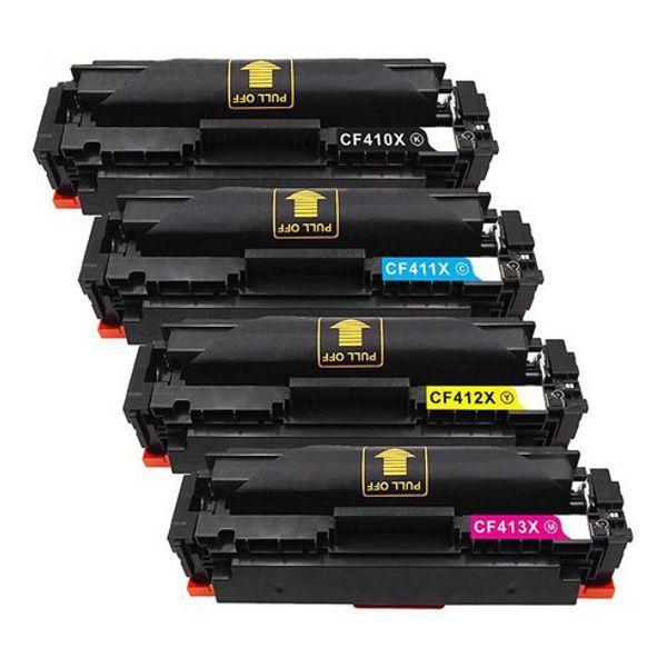 Kit Toner Compatível HP 410X CF410X CF411X CF412X CF413X M452DN M452DW M452NW M477FDN M477FDW  - INK House