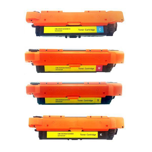 Kit Toner Compatível HP 504A CE250A CE251A CE252A CE253A CE400A CE401A CE402A CE403A  - INK House
