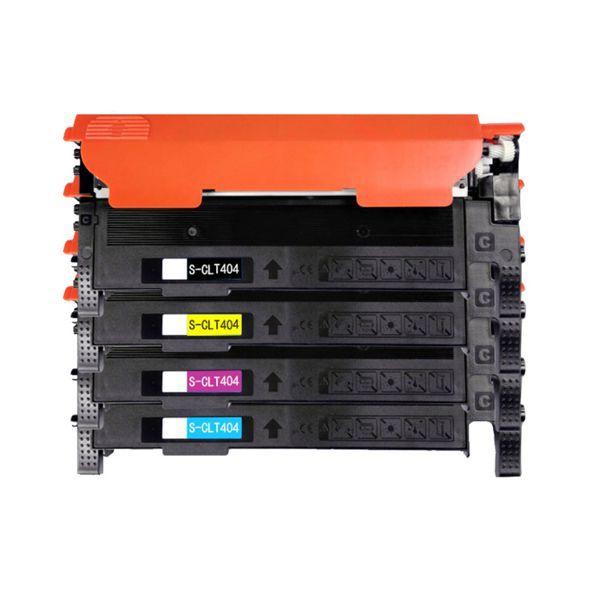 Kit Toner Compatível Samsung 404S CLT-K404S CLT-C404S CLT-M404S CLT-Y404S C430 C433 C480  - INK House