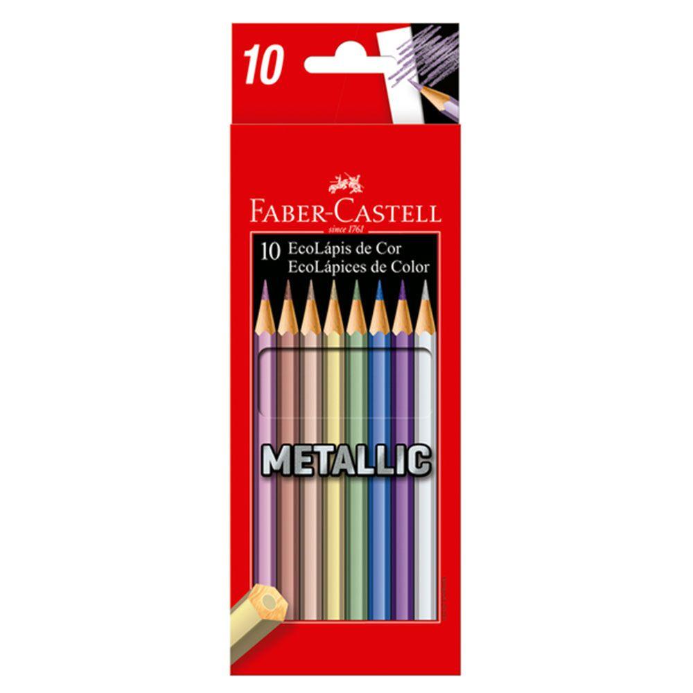 Lápis de Cor Metálico 10 Cores Faber Castell
