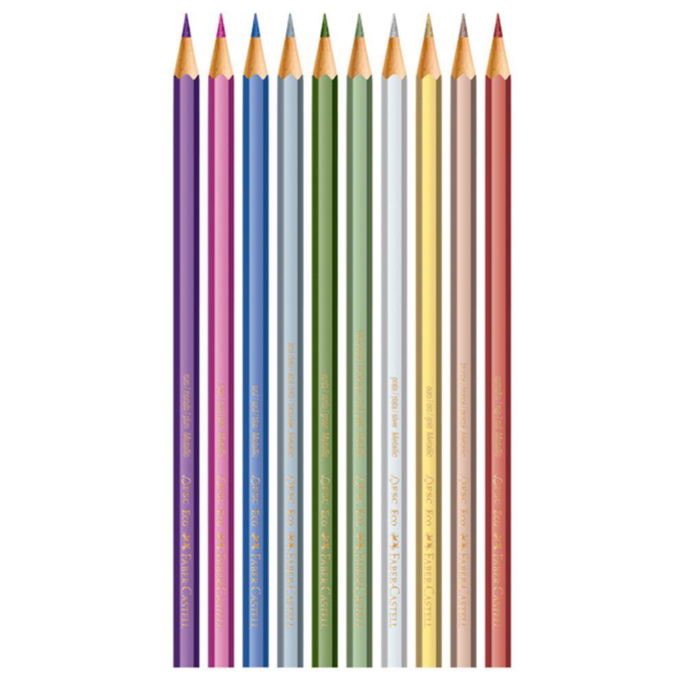 Lápis de Cor Metálico 10 Cores Faber Castell  - INK House