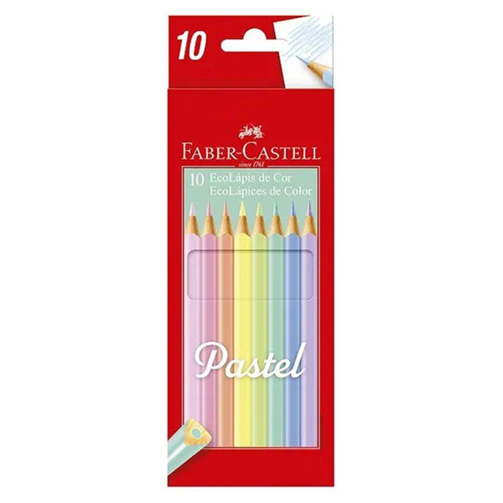 Lápis de Cor Pastel 10 Cores Faber Castell  - INK House