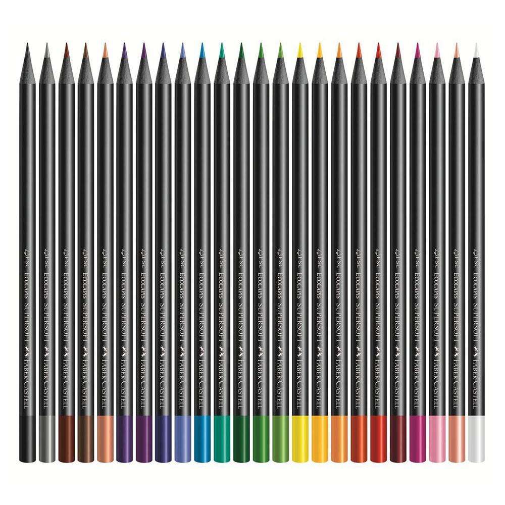 Lápis de Cor Supersoft 24 Cores Faber-Castell