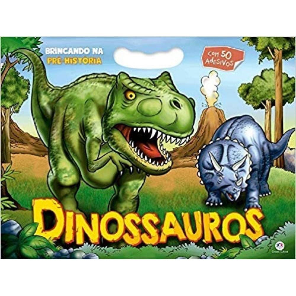 Livro Brincando na Pré-História Dinossauros Ciranda Cultural  - INK House