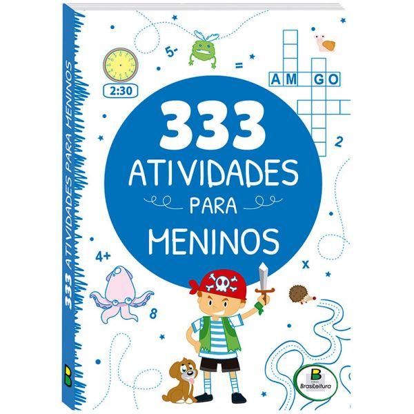 Livro Infantil 333 Atividades para Meninos Brasileitura  - INK House