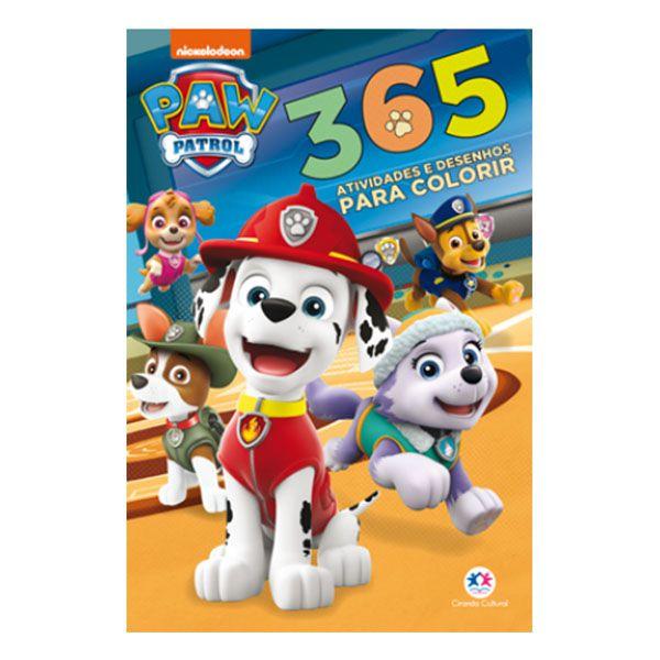 Livro Infantil 365 Atividades e Desenhos para Colorir Patrulha Canina Ciranda Cultural