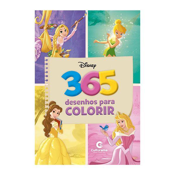 Livro Infantil 365 Desenhos Para Colorir Disney Culturama