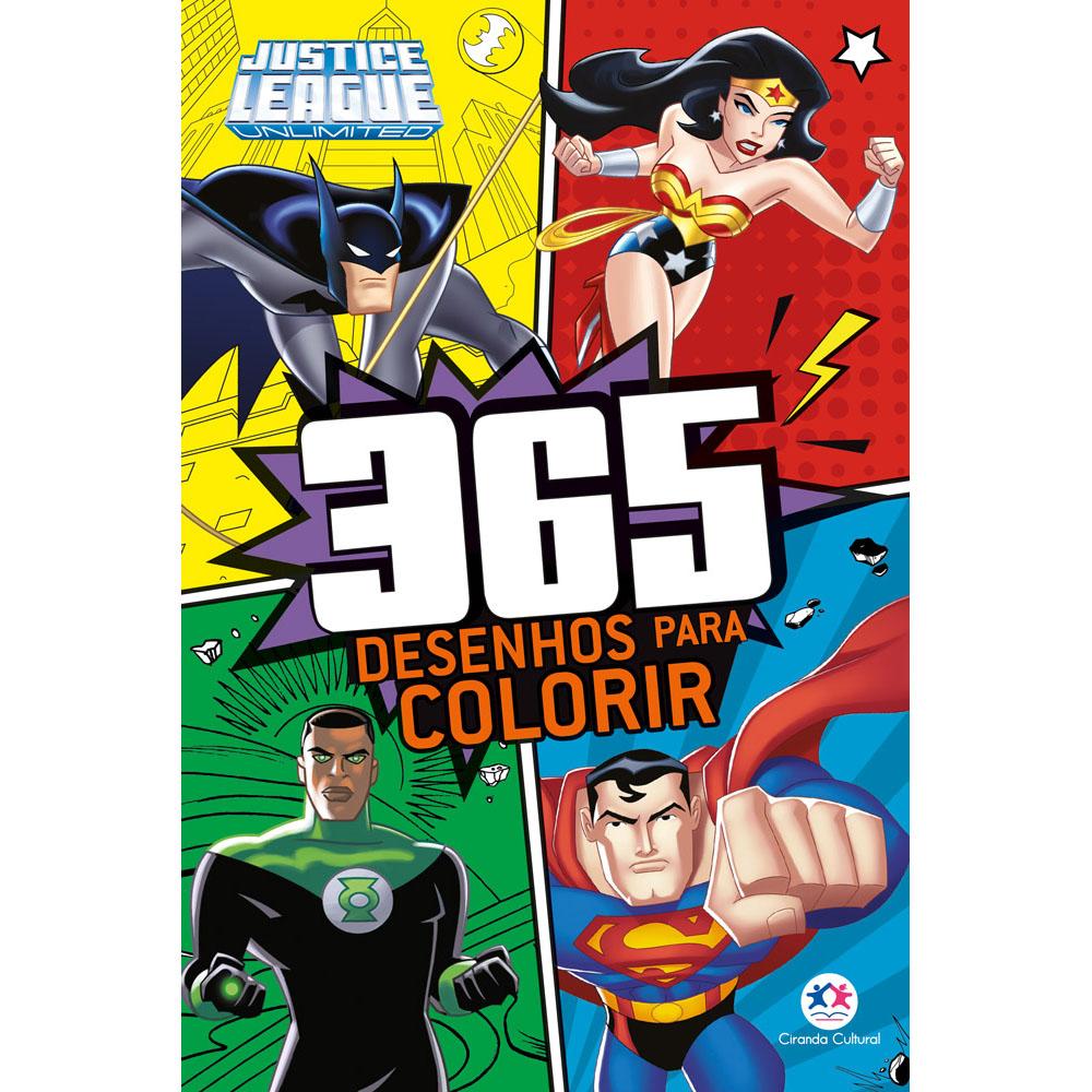 Livro 365 Desenhos para Colorir Liga da Justiça Ciranda Cultural