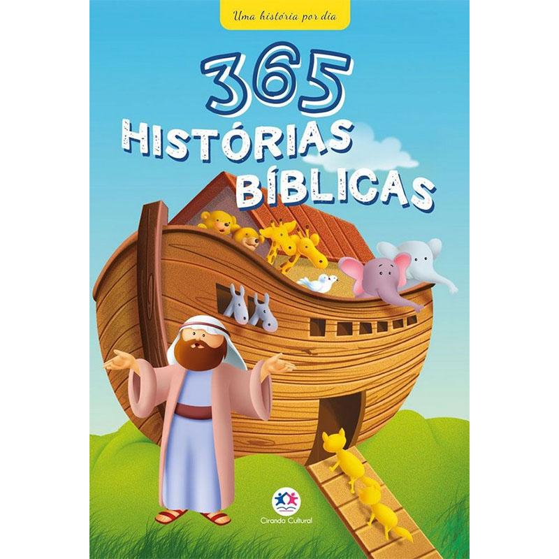 Livro Infantil 365 Histórias Bíblicas Ciranda Cultural