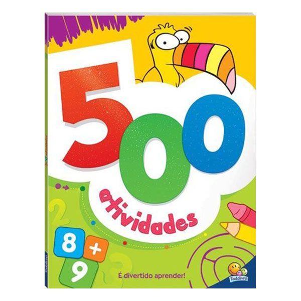 Livro Infantil 500 Atividades Laranja Todolivro