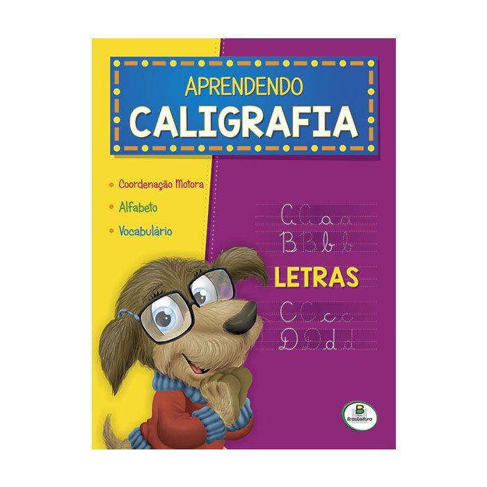 Livro Infantil Aprendendo Caligrafia Letras Brasileitura  - INK House
