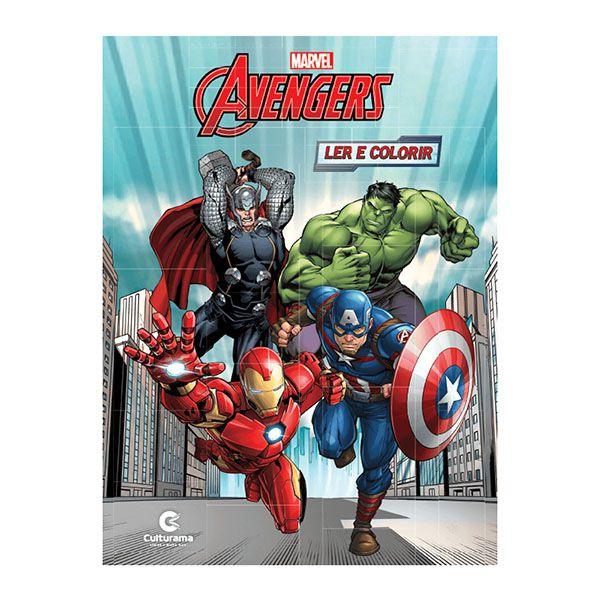 Livro Infantil Avengers Ler e Colorir Culturama  - INK House