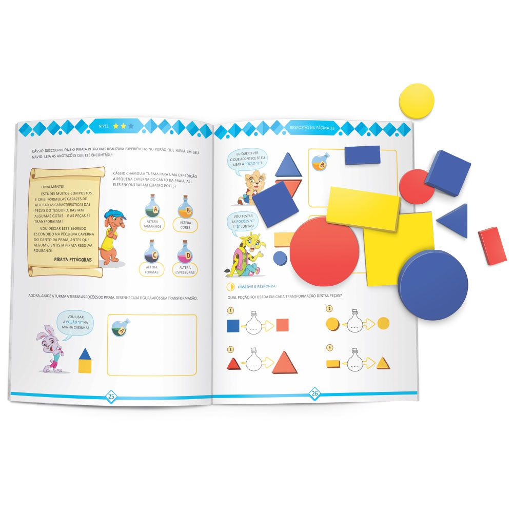 Livro Infantil Blocos Lógicos Escolinha Todo Livro