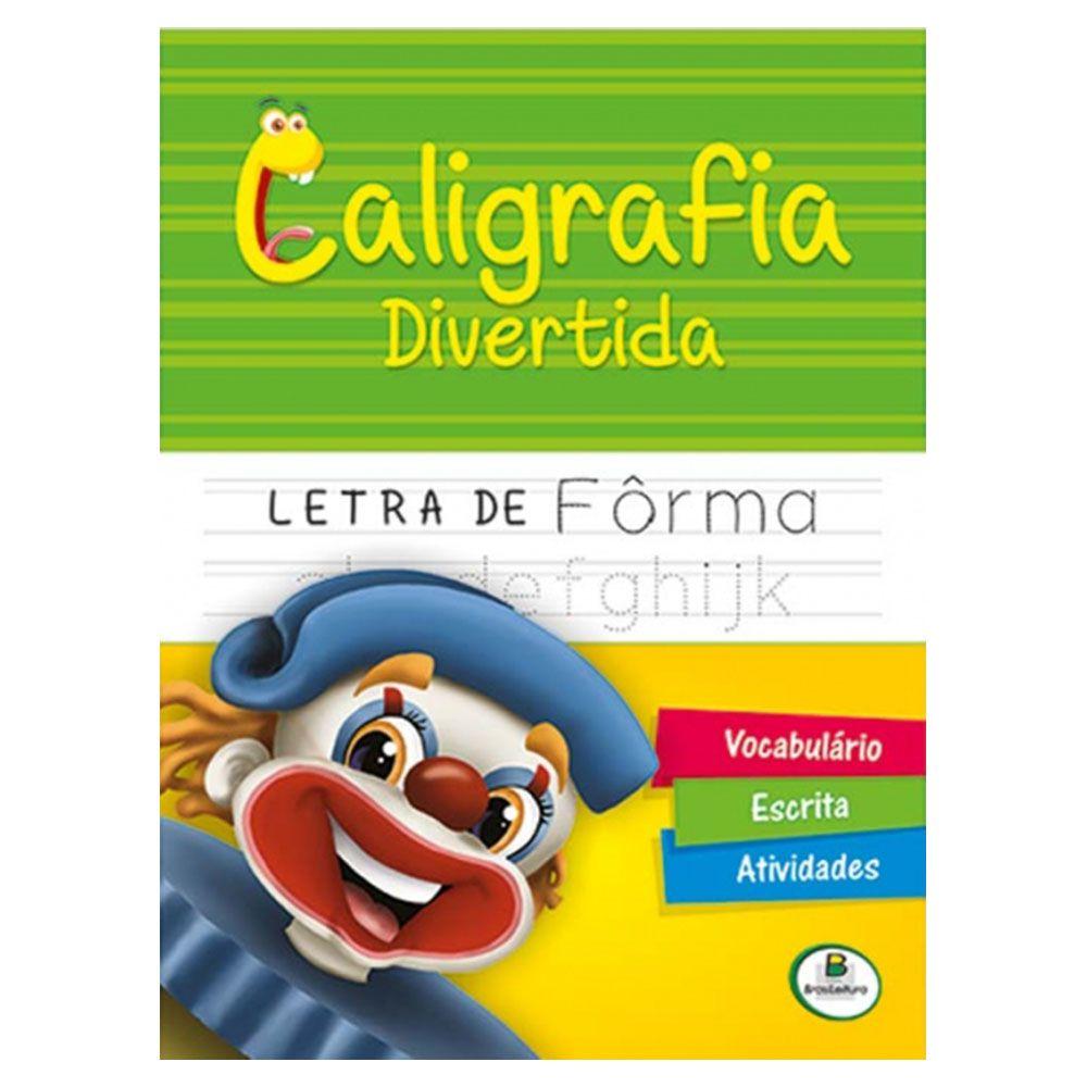 Livro Infantil Caligrafia Divertida Letra de Fôrma Brasileitura  - INK House