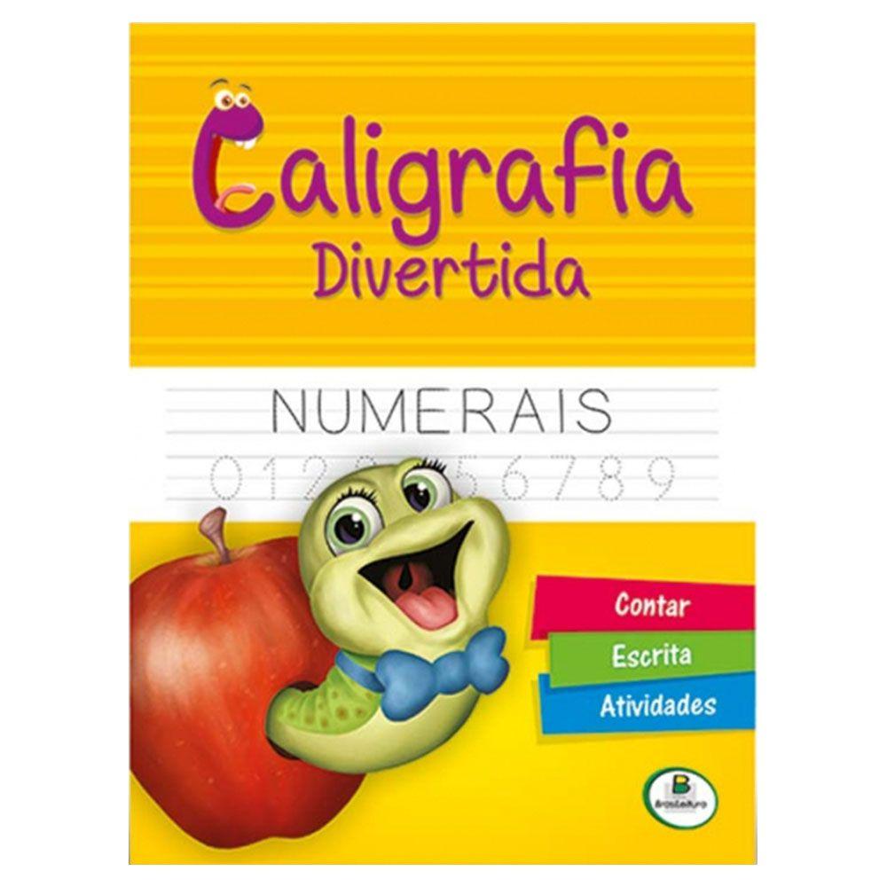 Livro Infantil Caligrafia Divertida Numerais Brasileitura