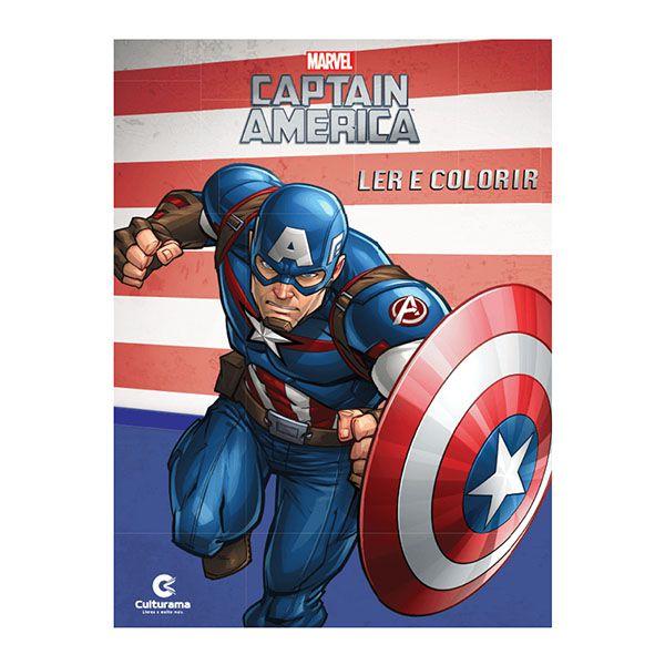 Livro Infantil Capitão América Ler e Colorir Culturama  - INK House