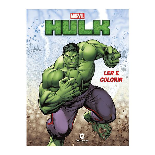 Livro Infantil Hulk Ler e Colorir Culturama