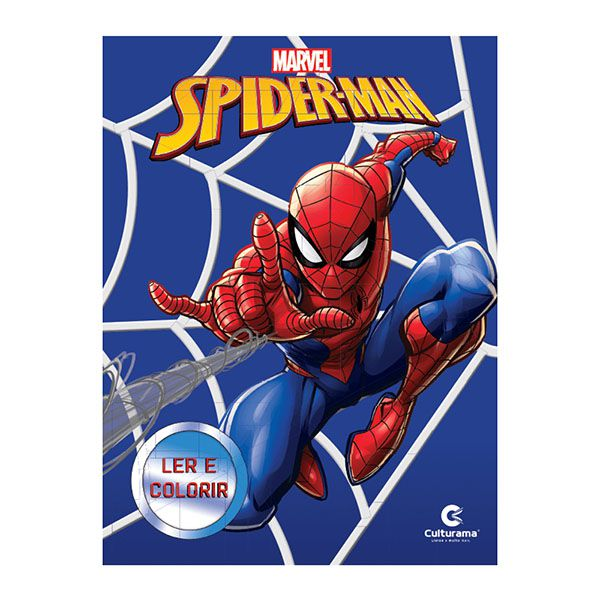 Livro Infantil Spider Man Ler e Colorir Culturama