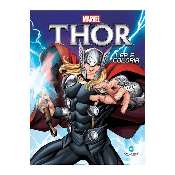 Livro Infantil Thor Ler E Colorir Culturama