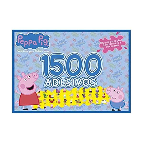 Livro Prancheta para Colorir com 1500 Adesivos Peppa Pig Online Editora
