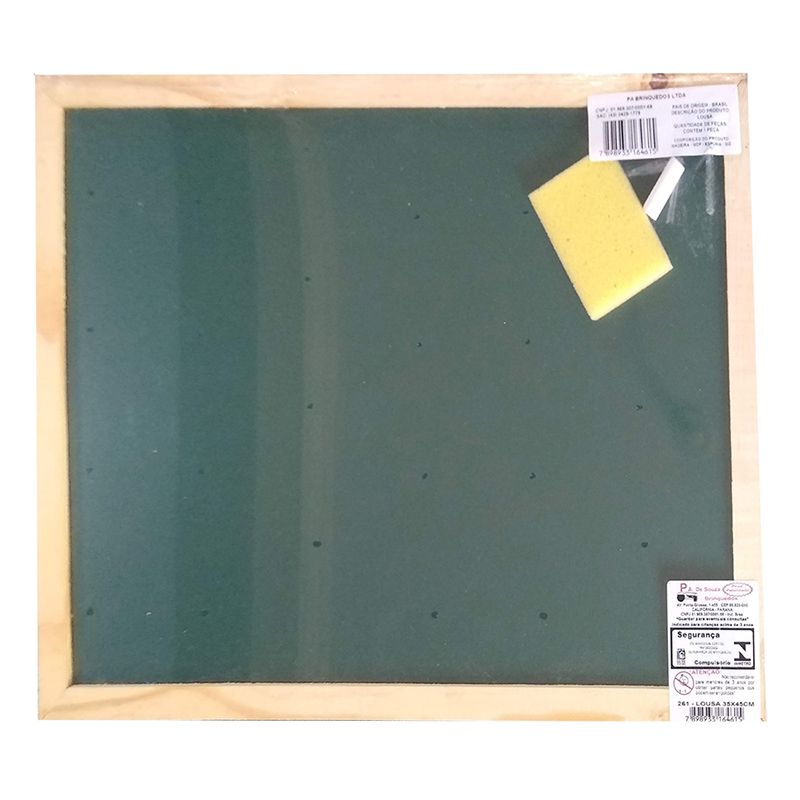 Lousa Escolar Quadro Verde de Madeira 35x45 cm PA de Souza