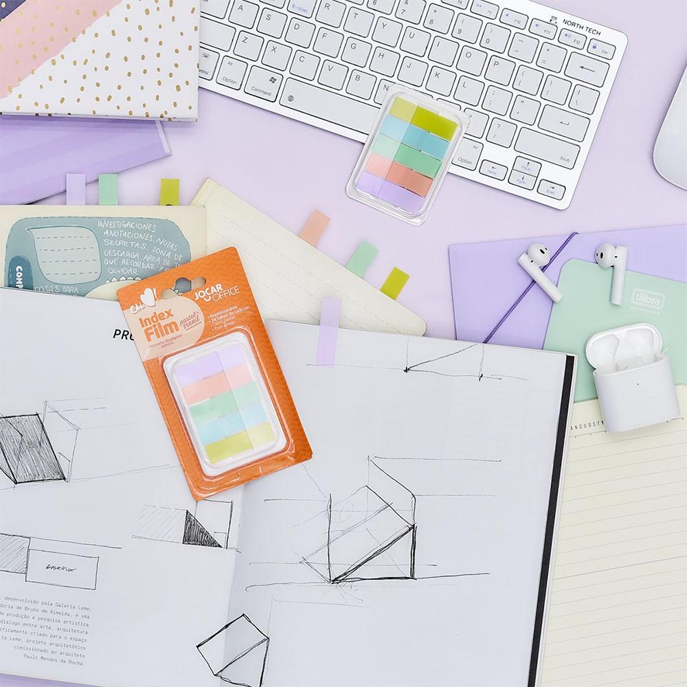 Marcador de Página Adesivo Pastel Trend Jocar Office
