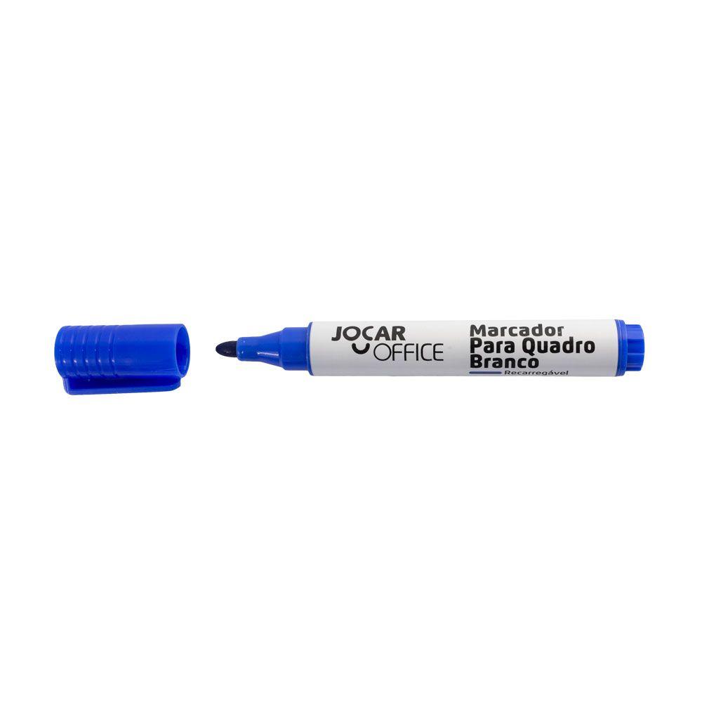 Marcador para Quadro Branco Recarregável Tinta Azul Jocar Office
