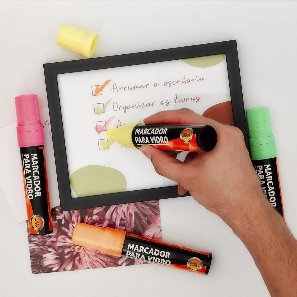 Marcador para Vidro Amarelo Jocar Office  - INK House