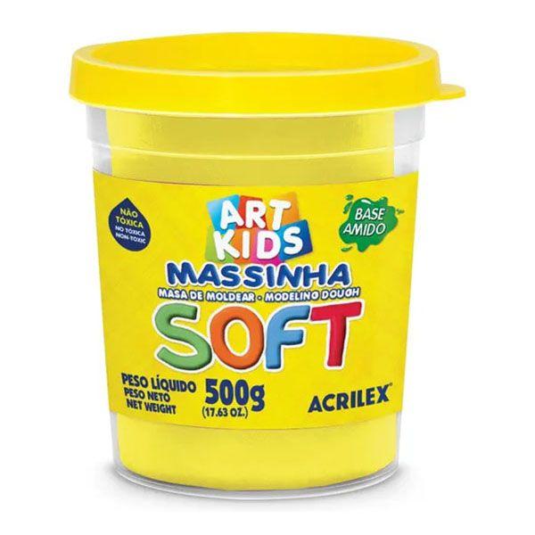 Massa de Modelar Soft 150g Amarelo Limão Acrilex