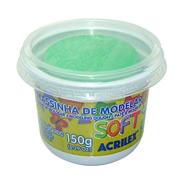 Massa de Modelar Soft 150g Verde Acrilex  - INK House