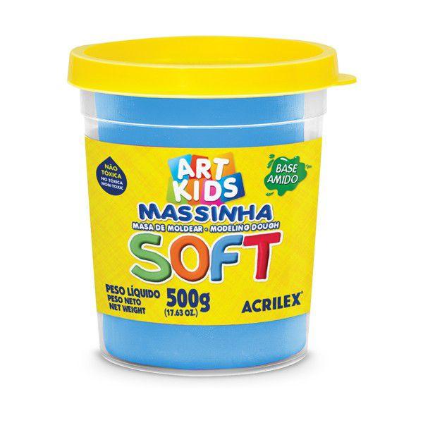 Massa de Modelar Soft 500g Azul Acrilex