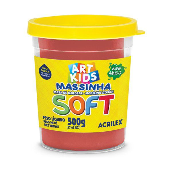 Massa de Modelar Soft 500g Vermelho Acrilex  - INK House
