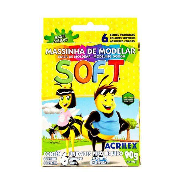 Massa de Modelar Soft 6 Cores 90g Acrilex