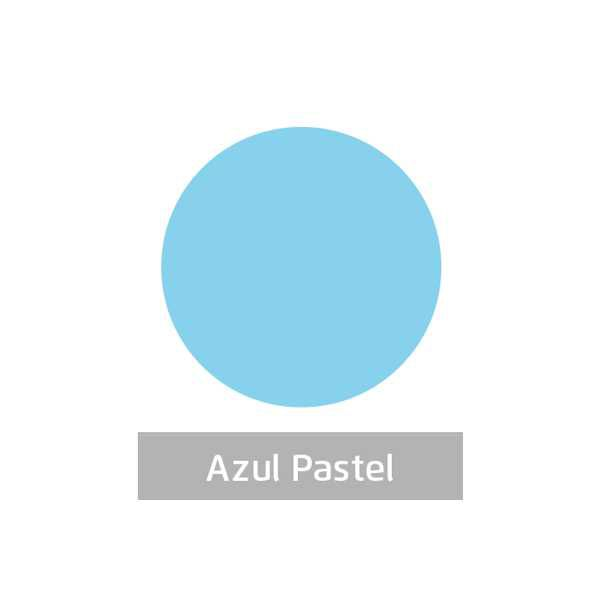 Massa para Artesanato Lisa Azul Pastel 50g Leonora  - INK House