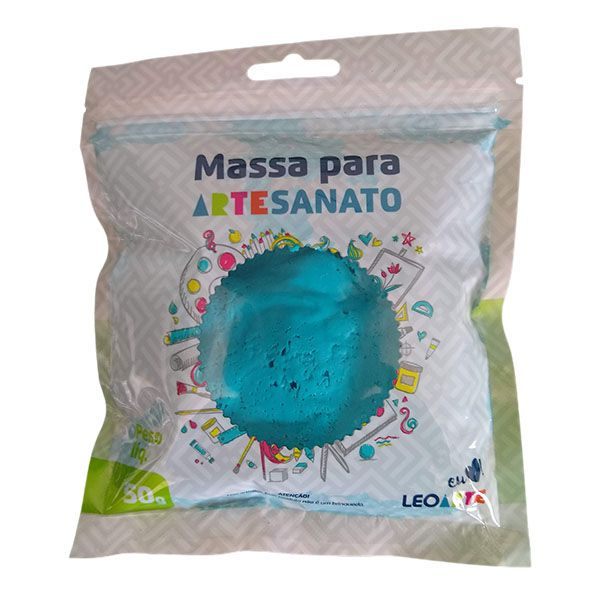 Massa para Artesanato Lisa Azul Piscina 50g Leonora  - INK House