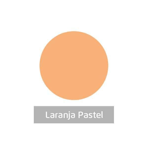 Massa para Artesanato Lisa Laranja Pastel 50g Leonora