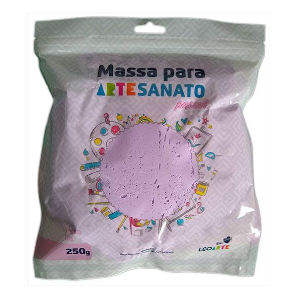 Massa para Artesanato Lisa Lilás Pastel 250g Leonora