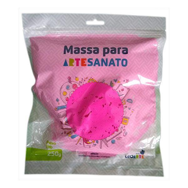 Massa para Artesanato Lisa Pink 250g Leonora