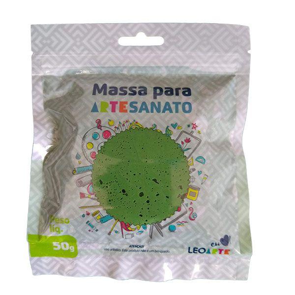 Massa para Artesanato Lisa Verde Musgo 50g Leonora