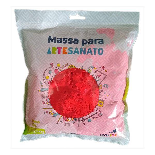 Massa para Artesanato Lisa Vermelha 250g Leonora