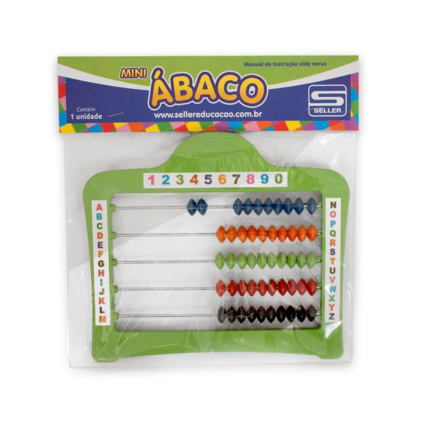Mini Ábaco Fechado 50 Bolinhas Seller  - INK House