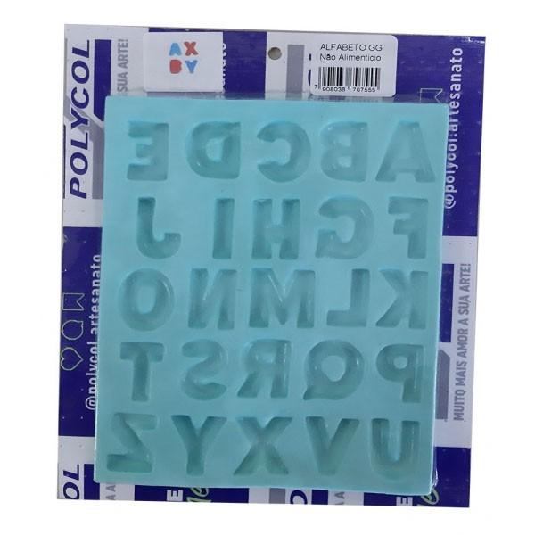 Molde de Silicone Alfabeto GG Polycol