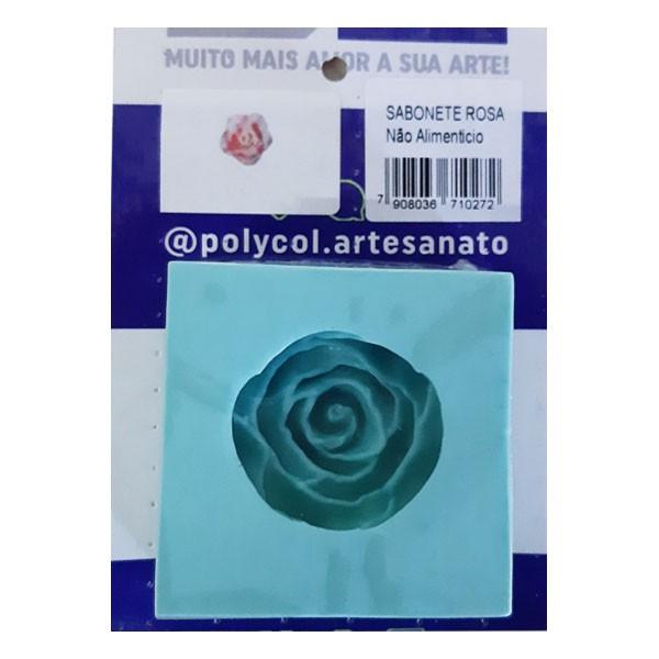 Molde de Silicone Sabonete Rosa Polycol