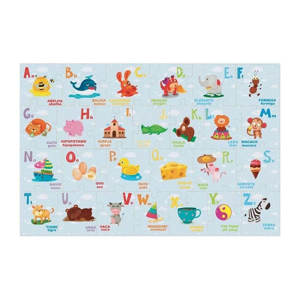 Montando o Alfabeto Brinquedo Educativo Brincadeira de Criança