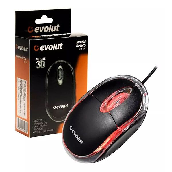Mouse Óptico EO-101 Evolut  - INK House