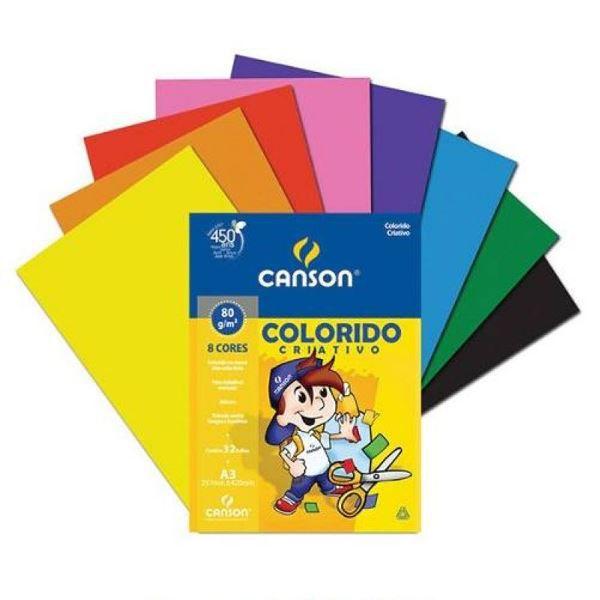 Papel Colorido Criativo A4 80g 32 Folhas Canson  - INK House