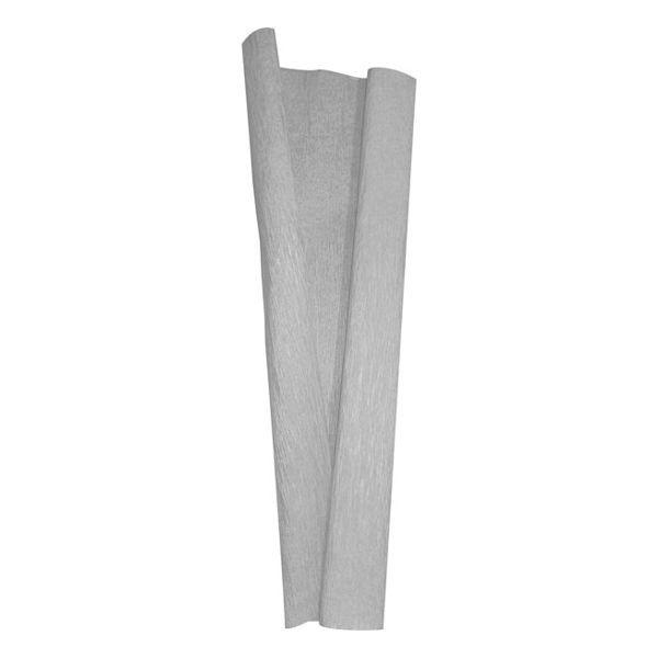 Papel Crepom Impermeável 48cm x 2,0m Prata Nova Print